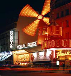 Picture Moulin Rouge Cabaret Front at night